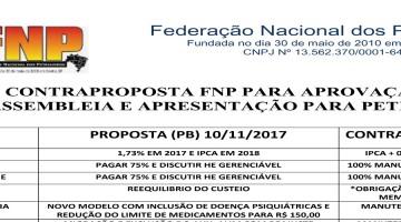 CONFIRA A CONTRAPROPOSTA DA FNP