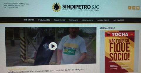 SITE DO SINDIPETRO-SJC GANHA NOVAS FUNCIONALIDADES